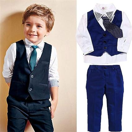 93bbd5963 Amazon.com  Kindlov Boys Warm Jacket Set Little Boy Suits