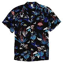 Men's Short Sleeve Rayon Hawaiian Tropical Patterns Shirts