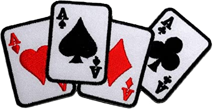 4 Aces Playing Cards Metal Enamelled Pin Badge Lapel Badge XJKB1-50
