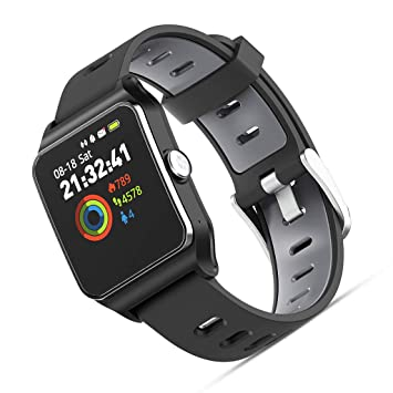 DGSFES Smartwatch Mujer Hombre Impermeable IP68 Pantalla ...