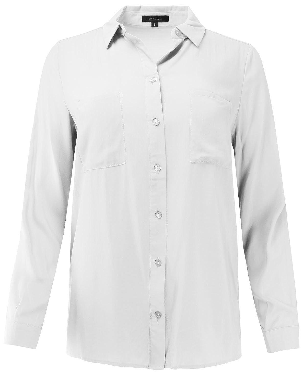 Ladies Code Womens Long Sleeve Classic Button Down Shirt