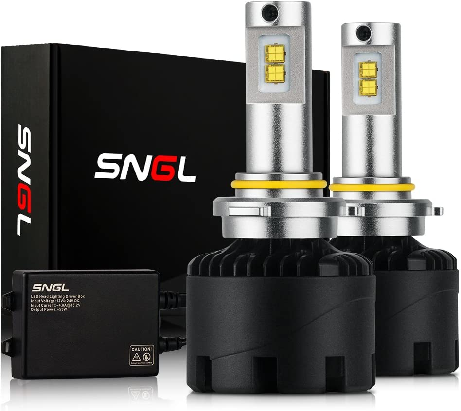 SNGL Super Bright LED Headlight Bulbs Conversion Kit