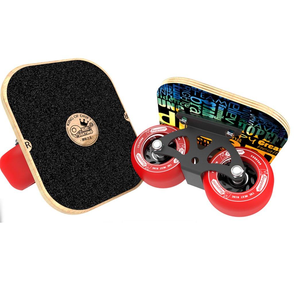 【即日発送】 ドリフトフリーラインスケート大人のフラッシュの子供四輪スケートボード交通道路マットブラックハンドパターンを描いた B07FLX662Z Red B07FLX662Z Red Red Red, タケトヨチョウ:eec95e81 --- a0267596.xsph.ru