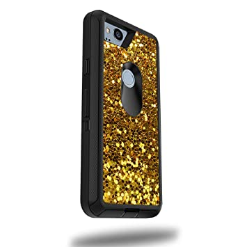 "MightySkins Skin for OtterBox Defender Google Pixel 2 XL 5.5"" Case - Gold Dazzle 