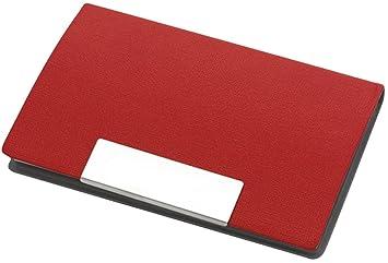 Visitenkartenetui Magnetisch Visitenkartenhalter Mappe Rot 9 6 X 6 5 X 1 1 Cm Visitenkartenhalter Box