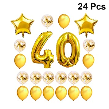 Amosfun 40 Números Láminas Globos Feliz Cumpleaños ...