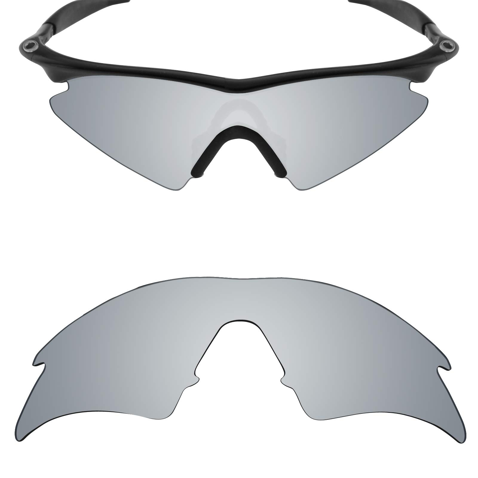 0251695fee Mryok UV400 Replacement Lenses for Oakley M Frame Sweep - Silver Titanium