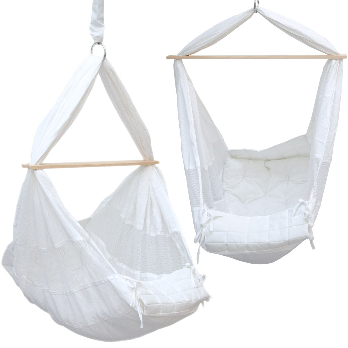 dunedesign baby hammock   100  cotton suspended cradle with wooden spreader and metal carabiners   poco baby natures nest motion bed hammock package   colour raw      rh   amazon co uk