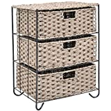 Rattan Wicker Baskets Bin Chest Tower Rack Organizer Shelf Drawer Storage Unit 3