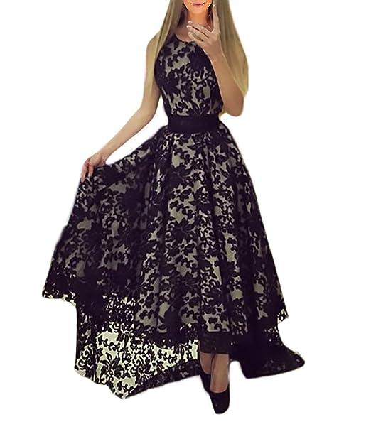 151edcf38366 HaiDean Vestido Largos Encaje Modernas Casual Verano Vestidos De ...