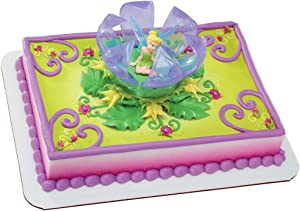 DecoPac Disney Fairies Tinker Bell in Flower Decoset
