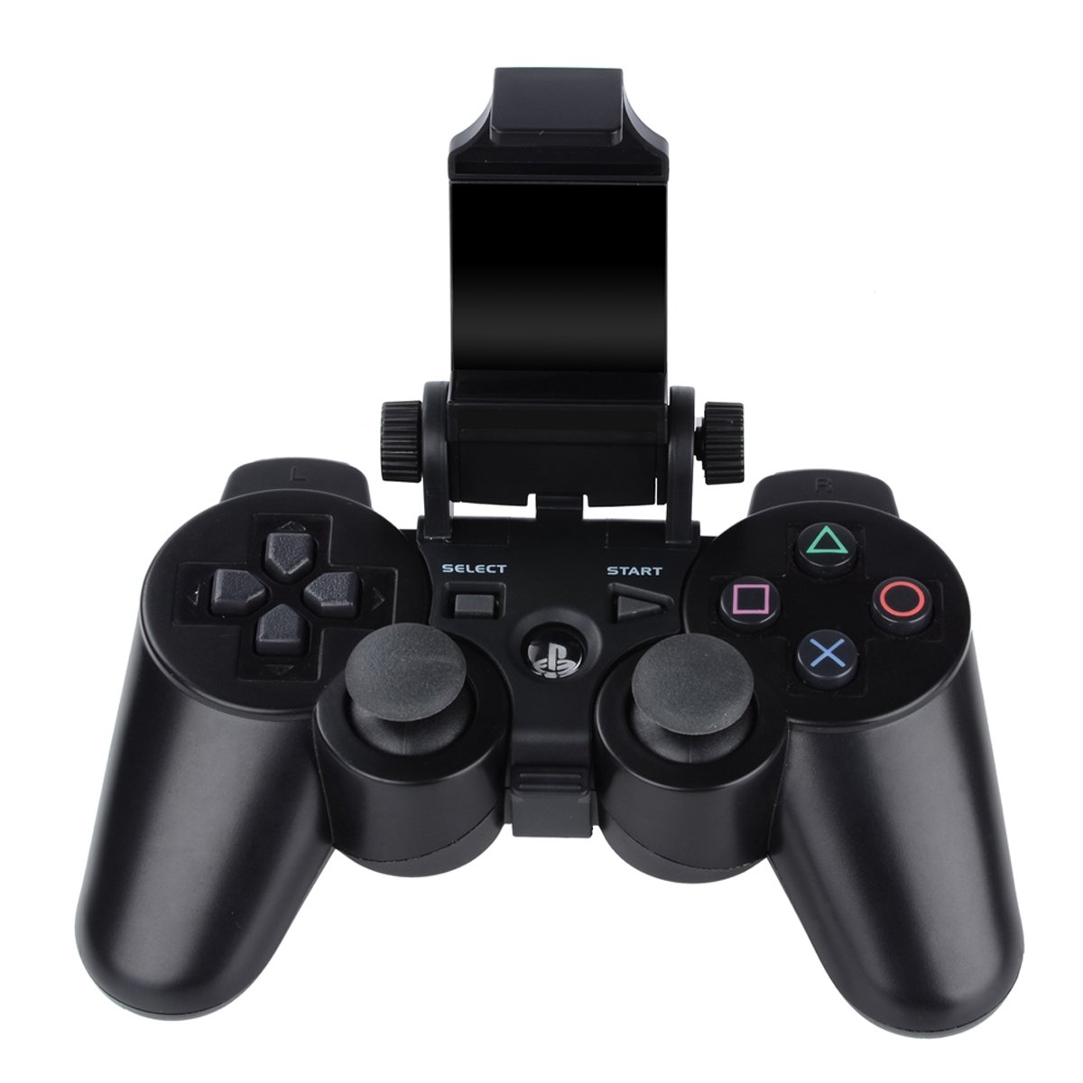 PS3 Controller Phone Mount, Megadream 180 Degree Adjustable Android Smartphone Game Clip Bracket Holder for Playstation PS3, Samsung Galaxy, HTC One, LG, Sony Xperia, Moto with D-pad Cap by Megadream