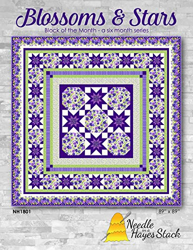 (Needle in a Hayes Stack Blossoms & Stars, Complete Quilt kit)