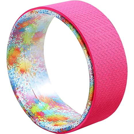 Amazon.com : Fitness Equipment Yoga Wheel Dharma Round Back ...