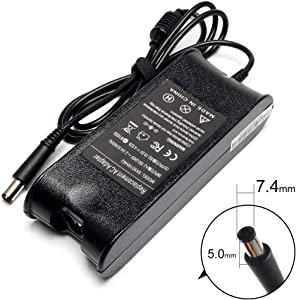 4.62A 19.5V 90W Adapter Laptop Charger for Dell Latitude 100L D640 D800 D810 D820 D830 e4200 e5400 e6400 e6500 pp15s Dell Vostro 1088 1500 1510 1520 1700 Supply Cord