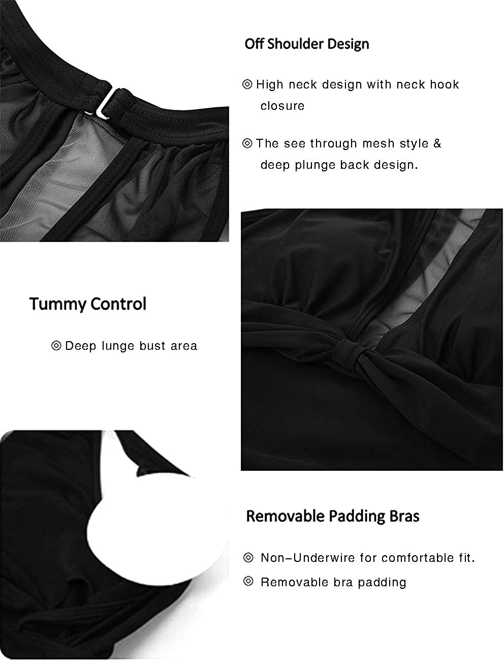 Womens Maternity One Piece Swimsuit Tummy Control Bathing Suits for Pregnant Women