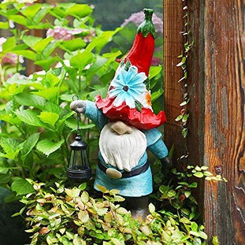 Estatuas para jardín Enano Europea Lámpara De Jardín Césped AccessoriesYard Adornos Decoraciones De La Estatua 22 * 60cm: Amazon.es: Hogar