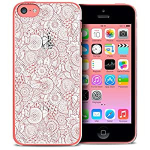 Caseink - Funda para Apple iPhone 4/4S/ cristal HD, colección spring, diseño de encaje en la parte inferior, rígida, ultra fina – Impresa en Francia, compatible con Apple iPhone 5C