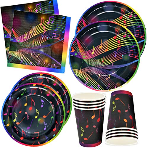 Halloween Theme Party Music (Musical Notes Tableware Set 24 9
