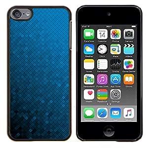 TECHCASE---Cubierta de la caja de protección para la piel dura ** Apple iPod Touch 6 6th Touch6 ** --Azul Wallpaper Random color del gradiente