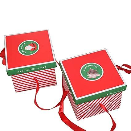 Color Zebra - Caja de cartón de Navidad para Manos, Caja, Cajas, Bolsas