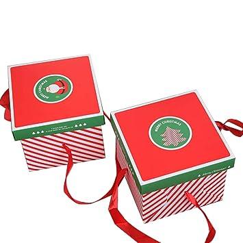 Color Zebra - Caja de cartón de Navidad para Manos, Caja, Cajas, Bolsas de Papel de Regalo, Cajas de Galletas para Dulces (4 Unidades): Amazon.es: Hogar