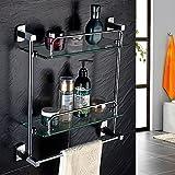 Bathroom Shelf Towel Rack Toilet Toilet Bathroom Double Glass Shelf Towel Rack Bathroom Accessories Towel Rack Full Of Copper