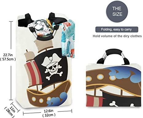 senya Large Storage Basket with Handles Collapsible Organizer Bin Laundry Hamper for Nursery Clothes Toys Sleeping Koala Bear Baby