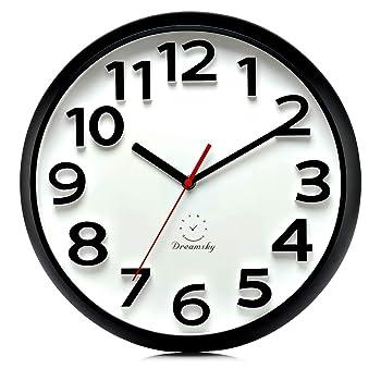 DreamSky 10-Inch Modern Wall Clock