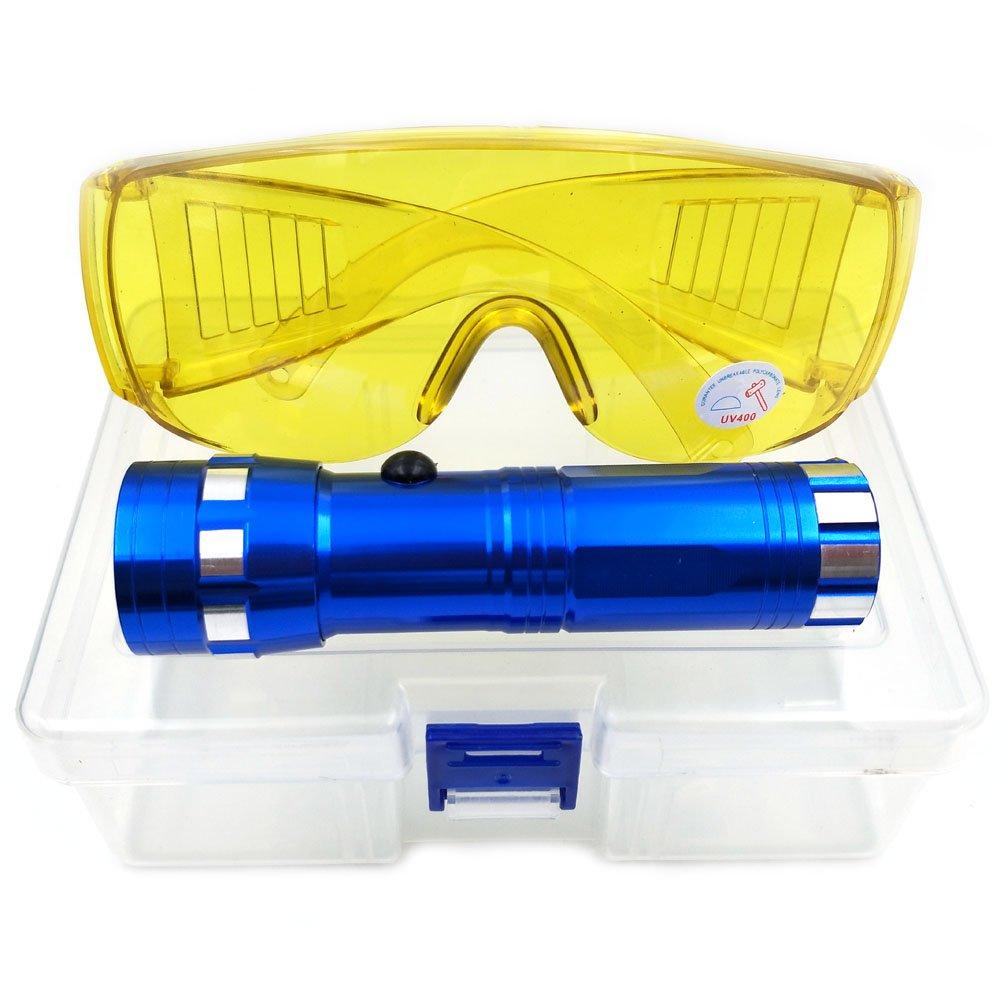 nikauto automá tico Detector de fugas de aire acondicionado linterna herramienta coche AC fugas Prueba linterna UV Protecció n Gafas