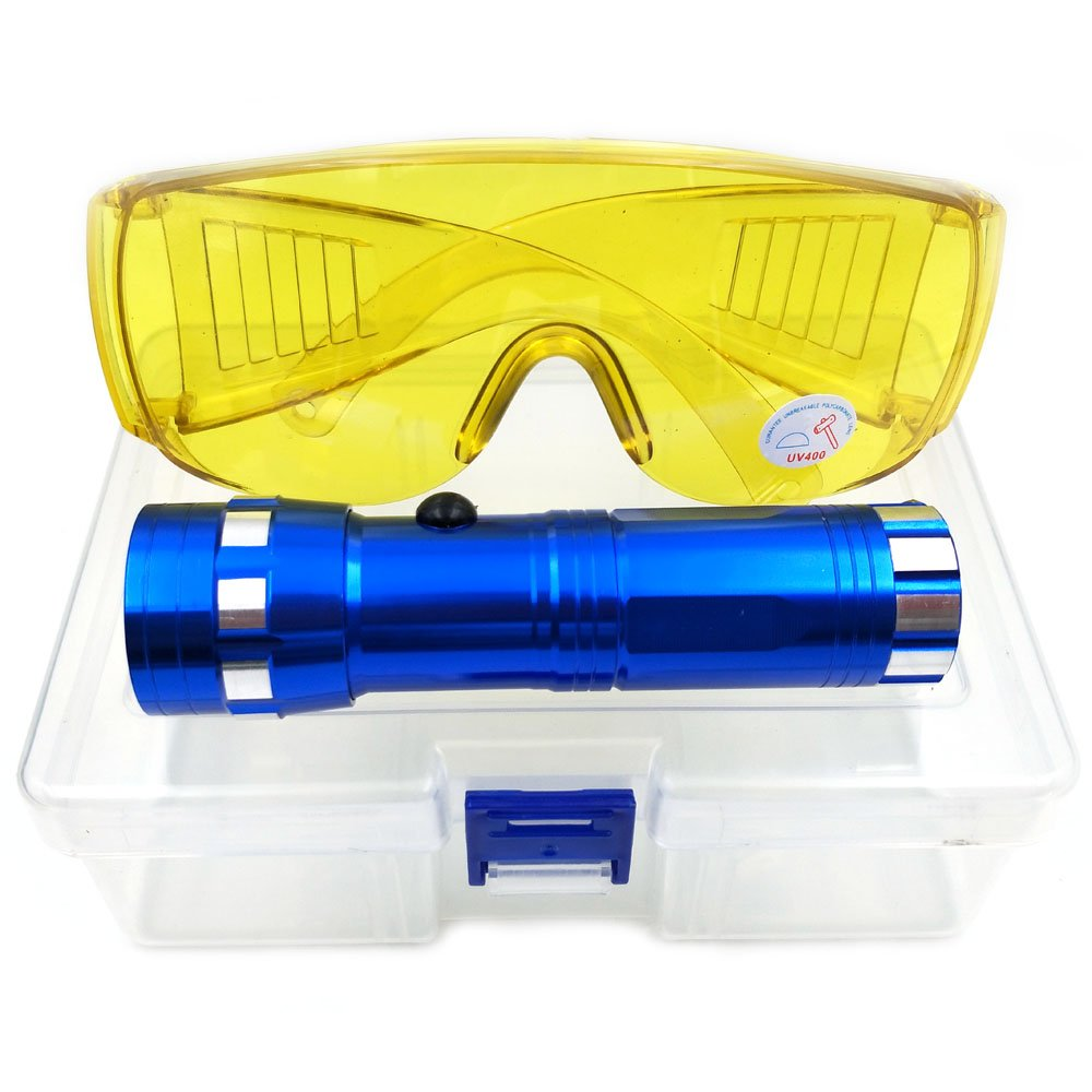 Nikauto Auto Air Conditioner Flashlight Leak Detector Tool Car AC Leak Test Flashlight UV Protective Glasses