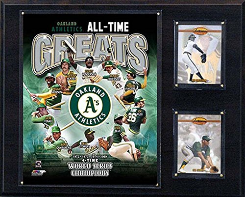 (C&I Collectables MLB Oakland Athletics 12x15-Inch All Time Greats Photo Plaque)
