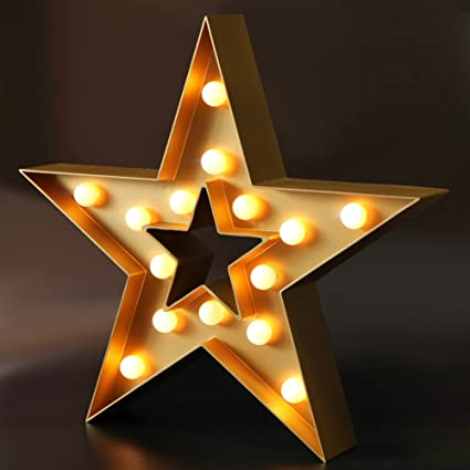 amazon com bright zeal 13 large led star marquee sign gold 6hr