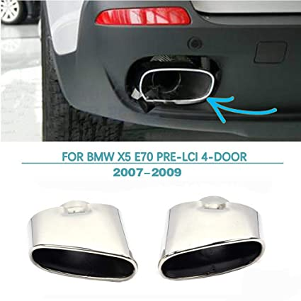 Exhaust Tip for BMW X5 E70 2007-2009 Stainless Steel Muffler Tail Pipe by  Jun-star