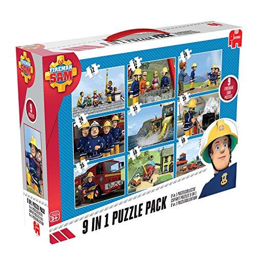 Jumbo 17338 - Fireman Sam 9-in-1 Puzzle Mix