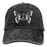 Butterfly Peace SignUnisex Fashion New Cowboys Hip Hop Adjustable Hat For Gift
