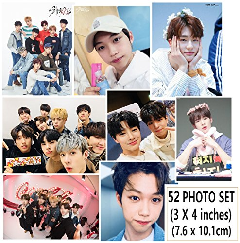 STRAY KIDS - PHOTO SET 52pcs (3 X 4 inches) + SoltreeBundle Ballpoint Pen(Black) (Wall Entertainment Point)