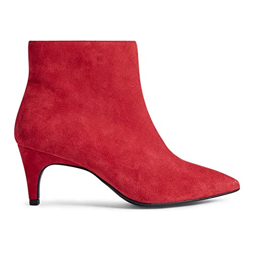 Marks & Spencer Sandali con Zeppa donna, Rosso (Red Suede), 36 2/3