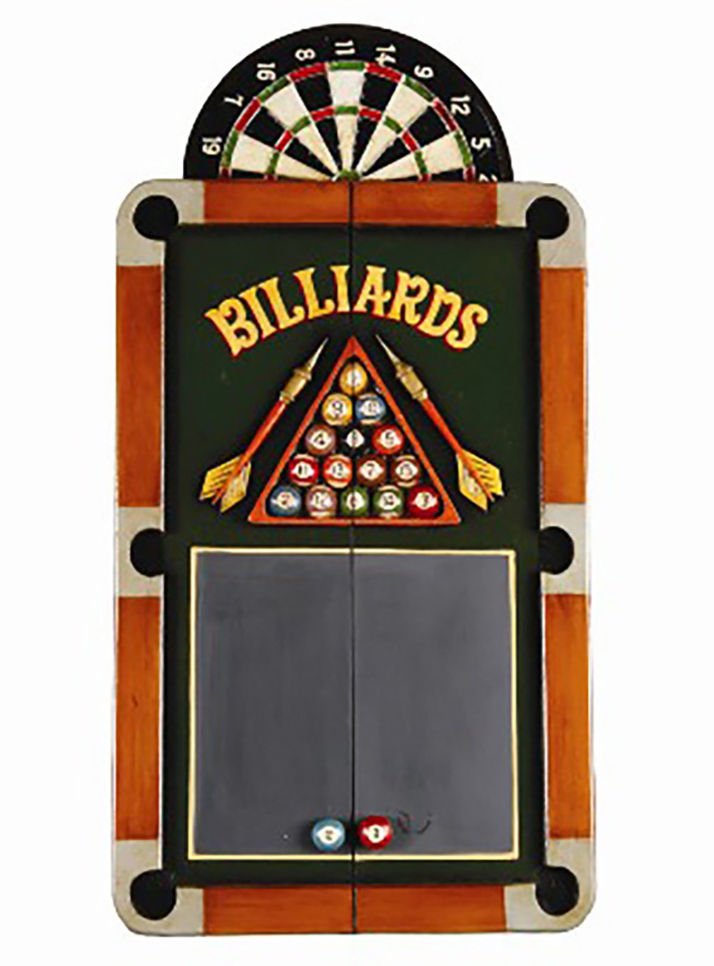 RAM Gameroom Colorful Billiards Theme Dartboard Cabinet