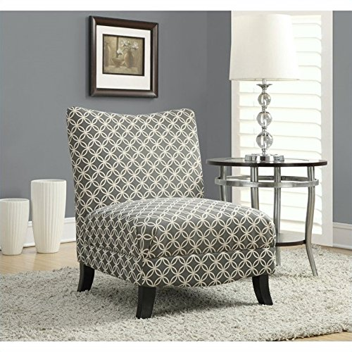 "Monarch Specialties Grey ""Circular"" Fabric Accent Chair, 32-Inch"