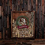 Personalized Wine Cork Shadow Box with Free Stainless Steel Cork Ccrew