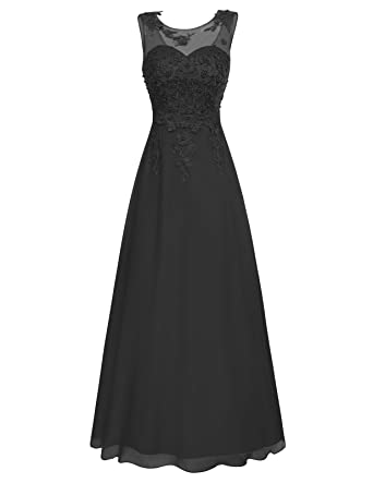 GRACE KARIN Gown Cocktail Ball Maxi Dress Wedding Chiffon Long Evening Dress 4