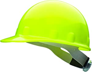 Fibre-Metal by Honeywell SuperEight Thermoplastic Cap-Style Hard Hat with 8-Point Ratchet Suspension, Hi-Viz Strong Yellow