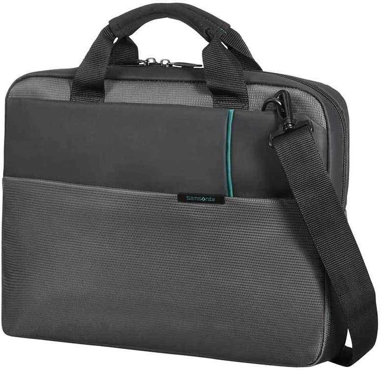 "Samsonite Qibyte Office Case 14.1"" Bolso Bandolera, 8.5 litros, Color Antracita"
