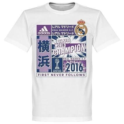 adidas - Camiseta Hombre Real Madrid CF campeón Copa Mundial Clubes 2016