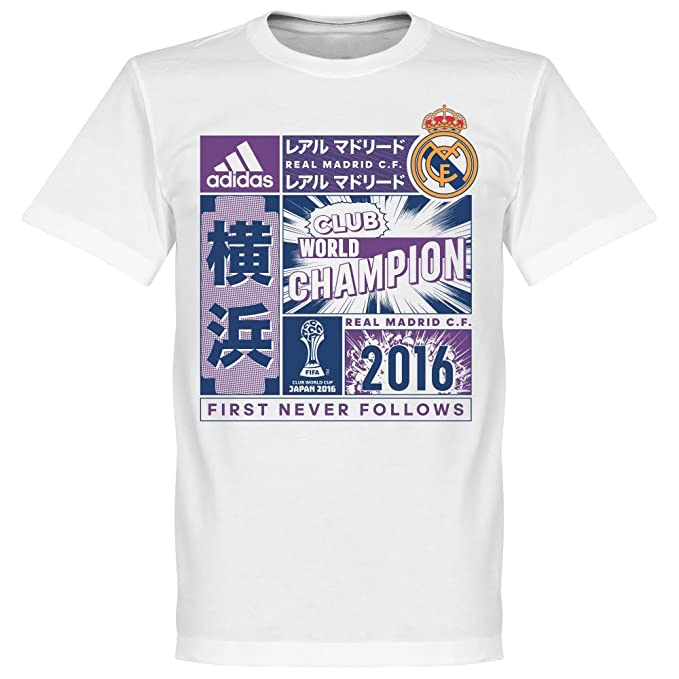 Adidas Real Madrid Club World Champion, Camiseta, White-Purple: Amazon.es: Deportes y aire libre