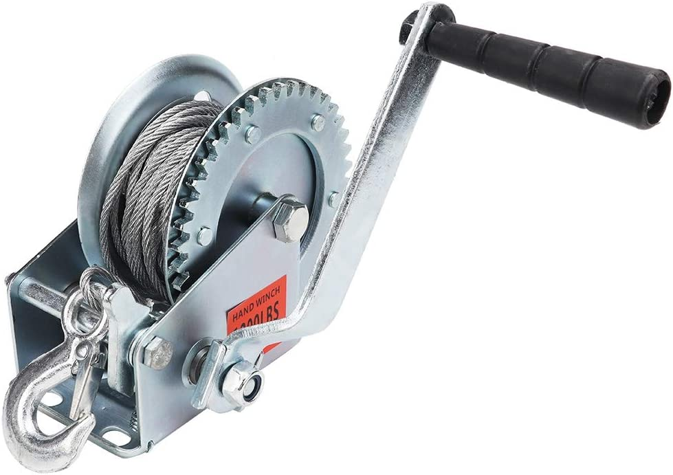 1200LB Hand Manual Winch Boat Marine Trailer with 10m Steel Wire