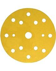 3M Hookit Disco Soporte de Papel 255P, 150 mm, Con 15 agujeros (LD861A), P320, 100/Caja