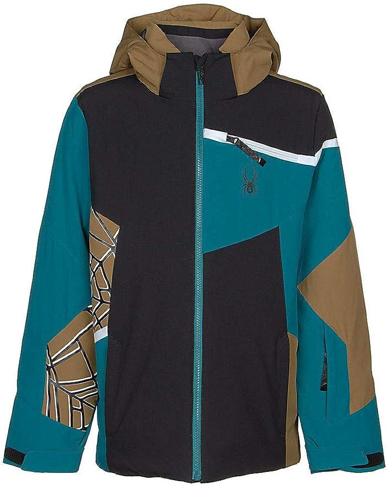 Kids Full Zip Hooded Winter Coat Spyder Boy/'s Challenger Ski Jacket