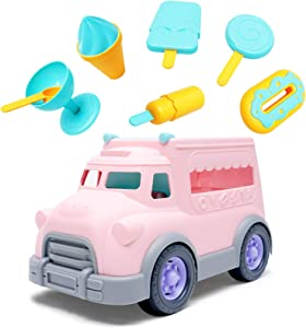 8 Pack Play Food Sets for Kids Kitchen, Toddler Ice Cream Car for Kids 3-5-Year-Old, Pretend to Play, Toy Kitchen Sets for Girls, Girl's Toy Trucks, 3-Year-Old Girls Christmas Birthday Gift.